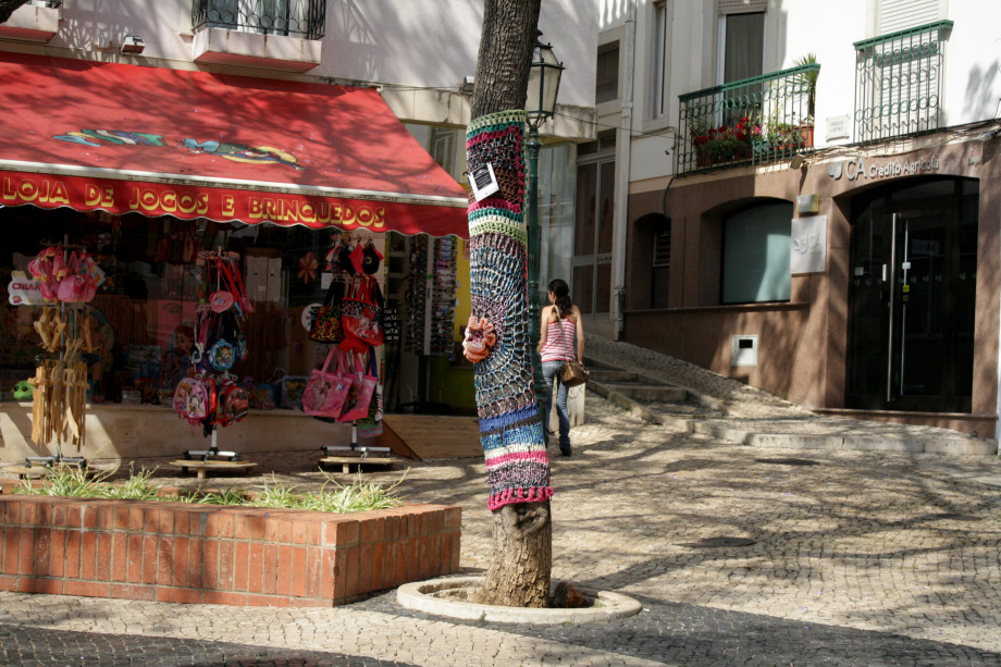 knitted trees portugal