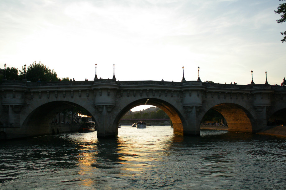 Paris river Seine bridge