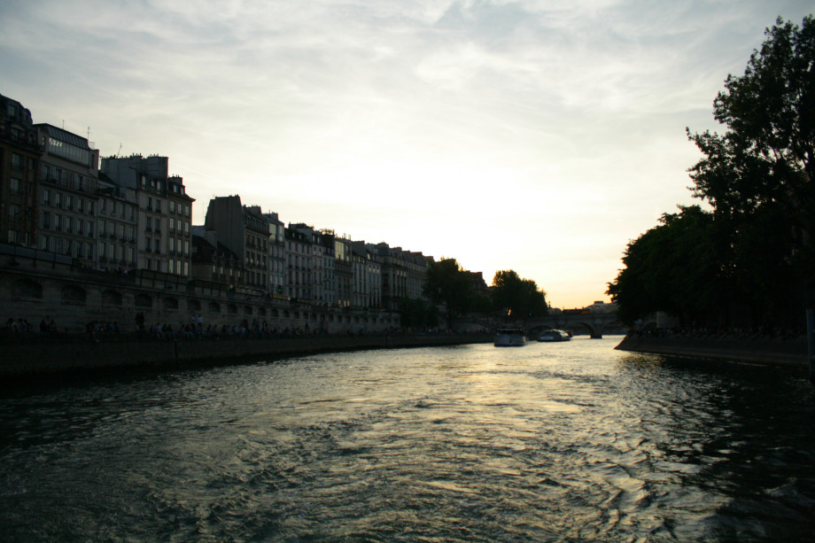 sunset river Seine cruise