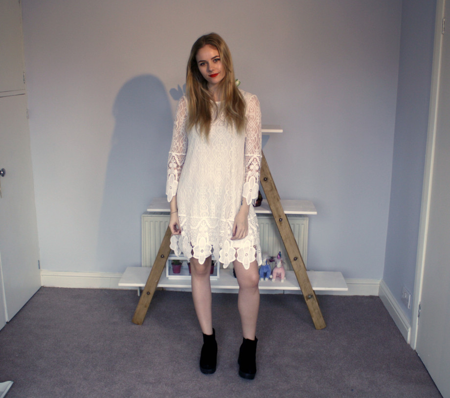 Lace dress Boohoo