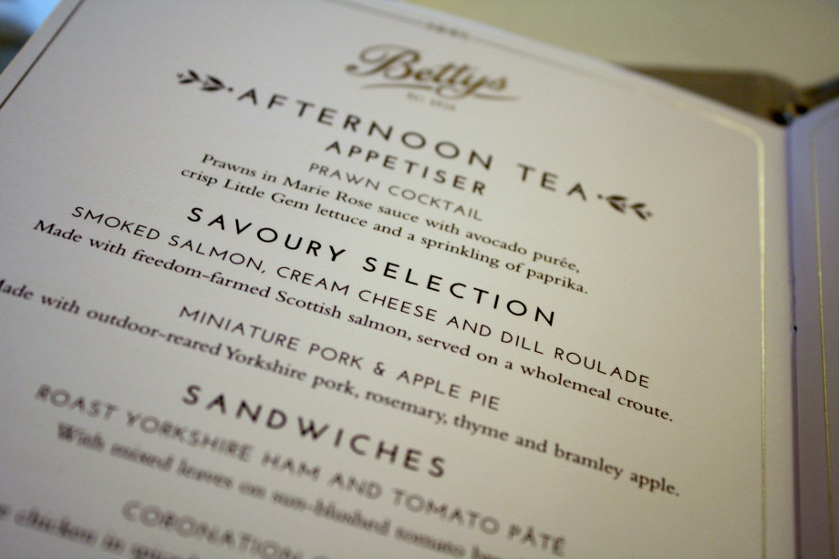 Bettys Afternoon Tea review
